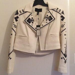 BCBG Maxaria jacket off white size medium